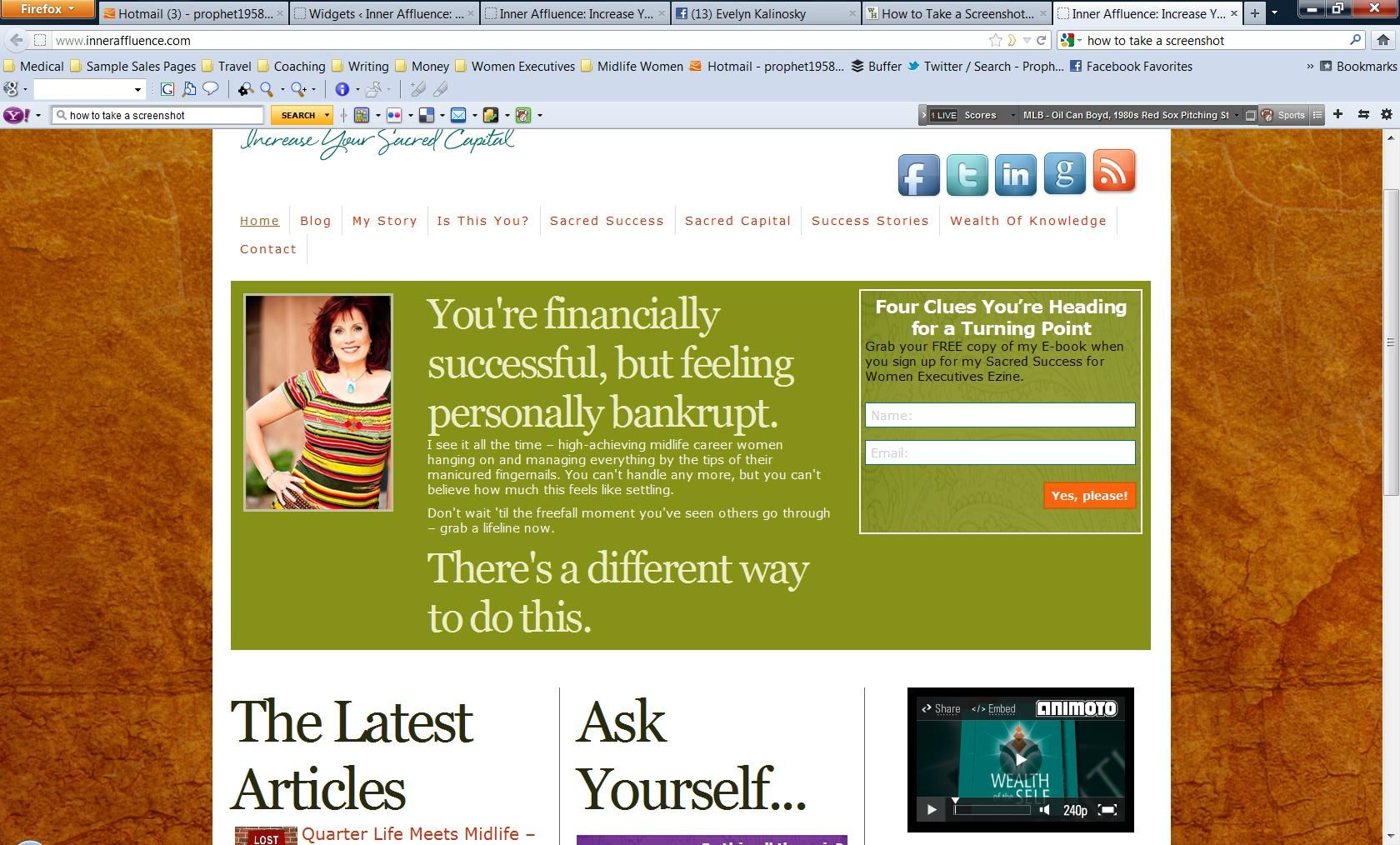 Inner Affluence new website design courtesy of VioletMinded Design. www.inneraffluence.com