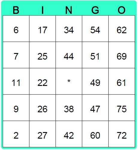 Create Blank Bingo Cards Bingo Card Maker Bingo Card Maker Bingo Card Template Bingo Cards