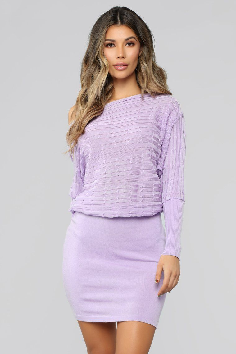 02b96e5fb So Many Reasons To Love Sweater Dress - Lilac Lilac Dress
