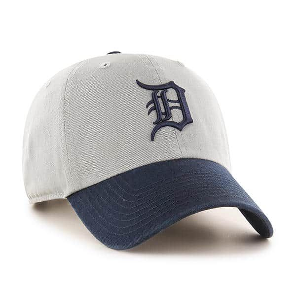 huge selection of 46b5f 0ce46 Detroit Tigers 47 Brand Gray Navy Logo Clean Up Adjustable Hat