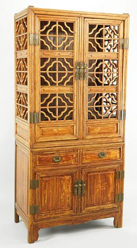 Bon A Chinese Elmwood Cabinet. : Lot 1703145