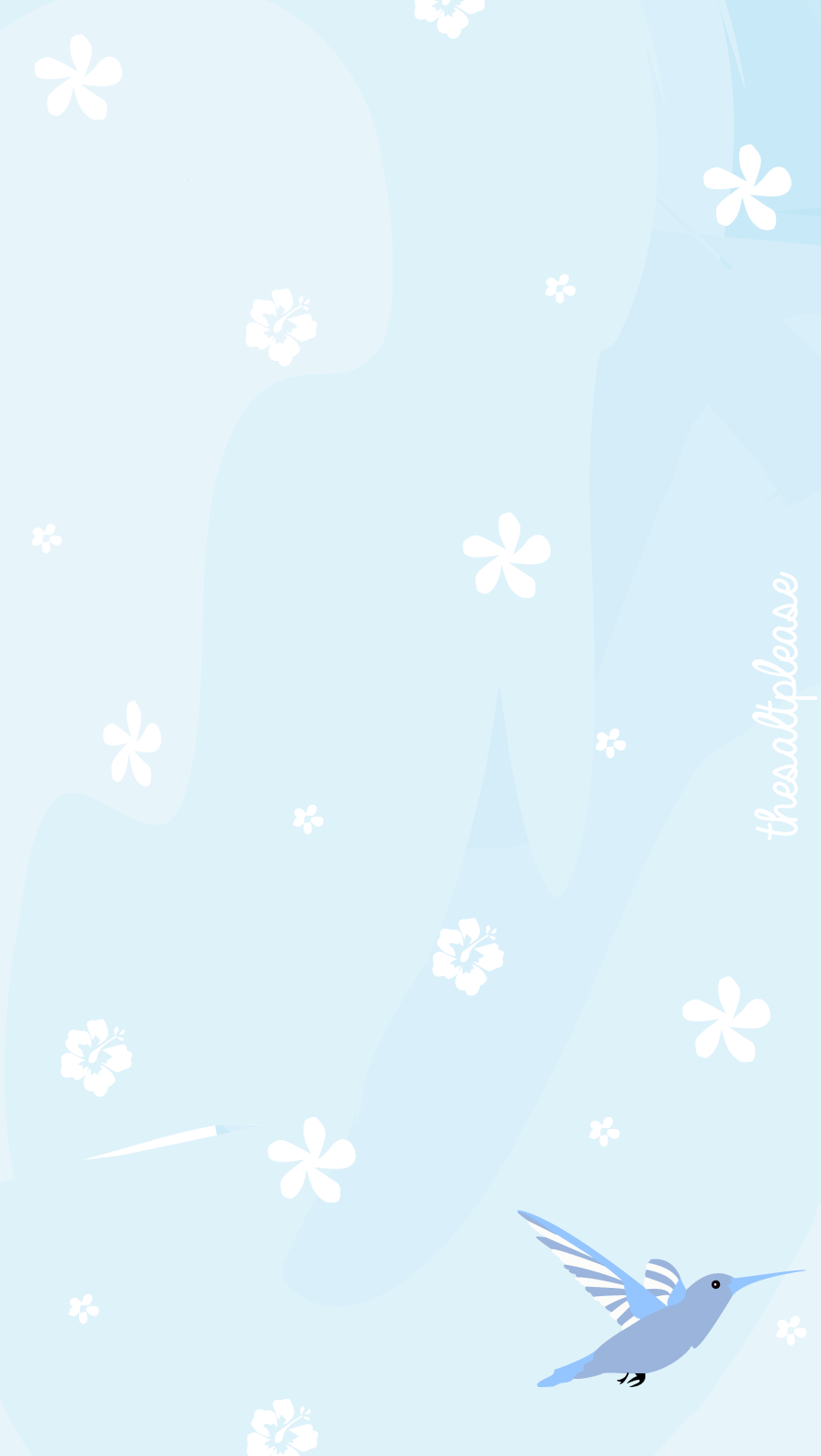 Soft Blue Hummingbirds Iphone Home Wallpaper Panpins