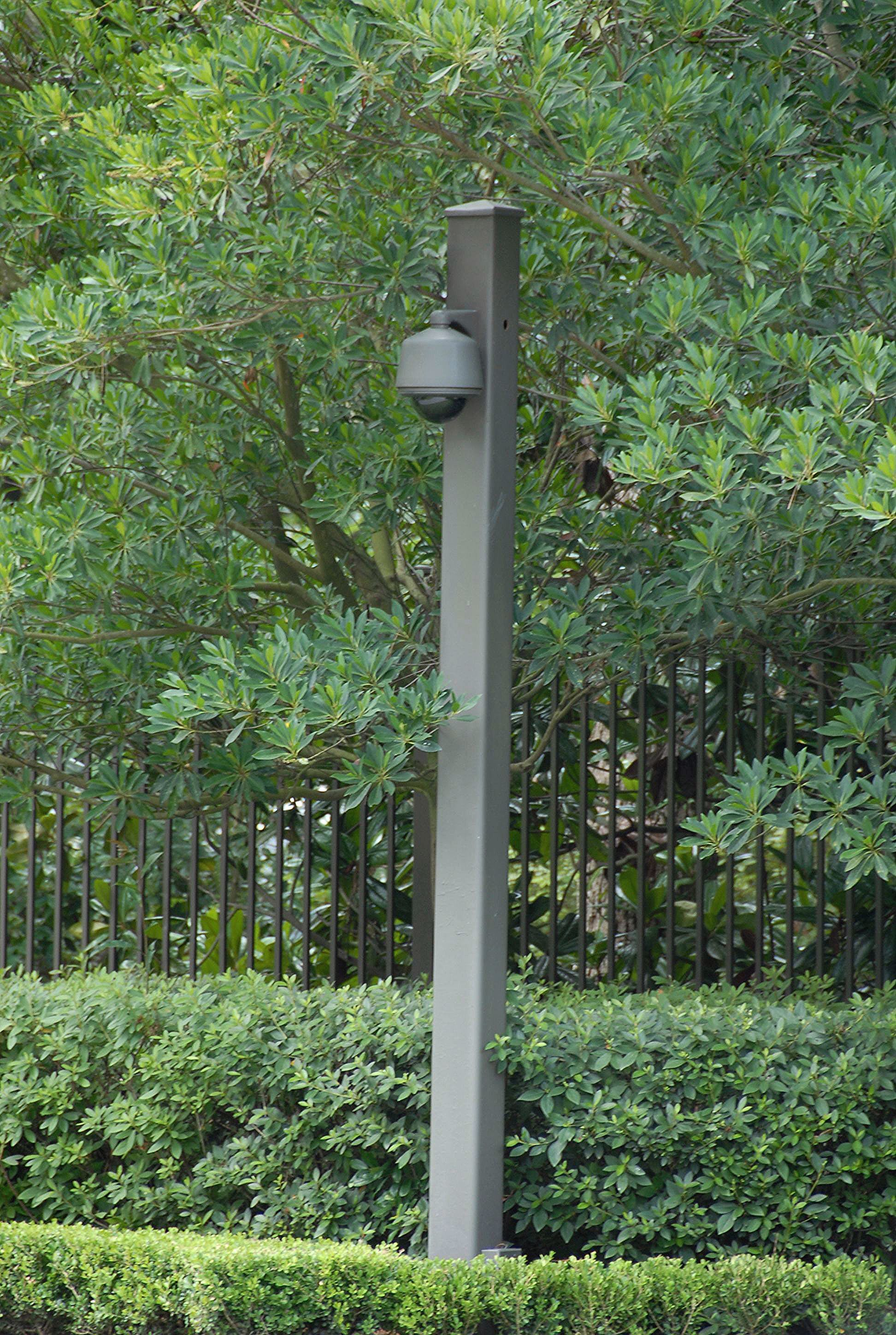 Security Camera Mounted On Commercial Lighting Pole In 2020