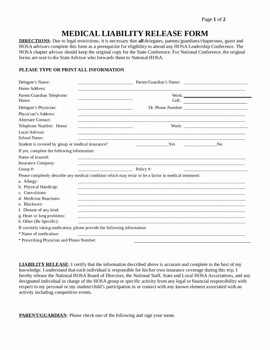Insurance Waiver Form Template Inspirational 2019 Assignment Of Deed Of Trust Form Fillable Liability Waiver Contract Template Liability