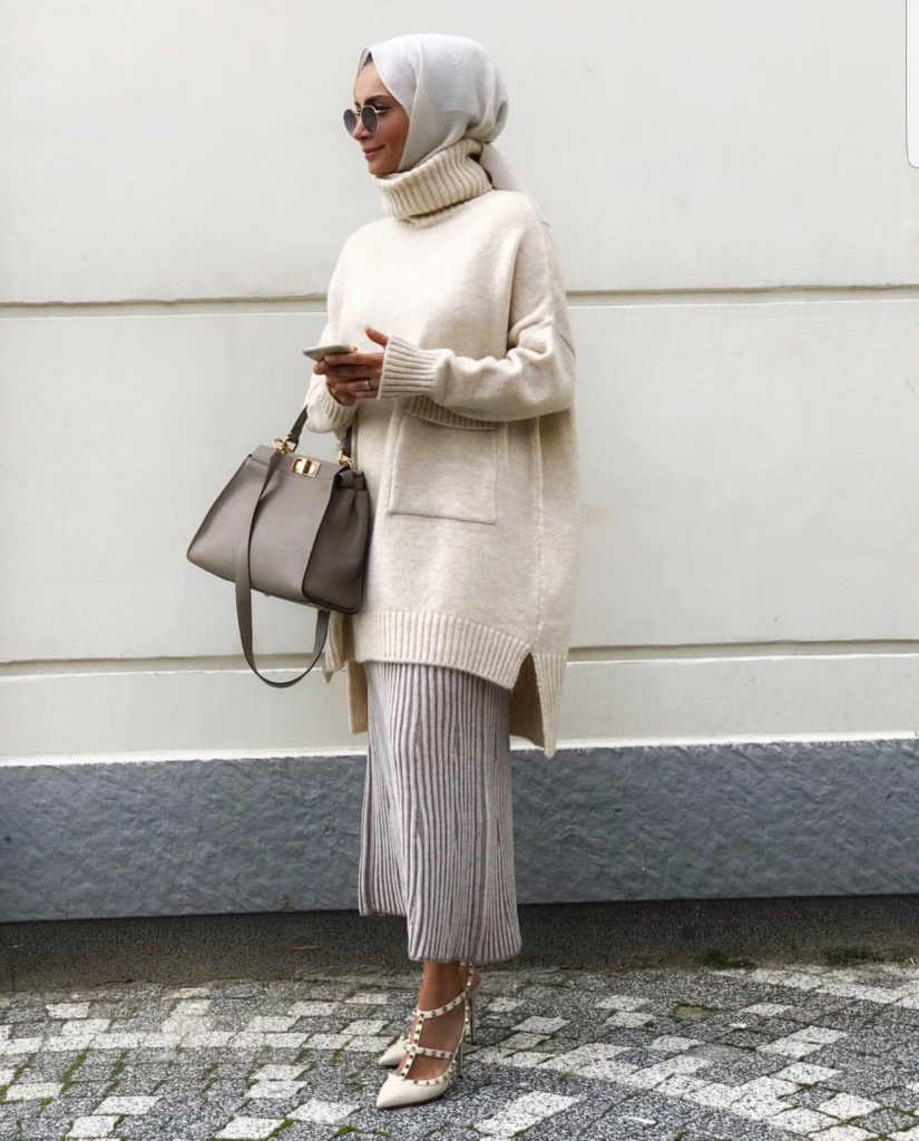 How To Wear Chunky Knits With Hijab #modestfashion