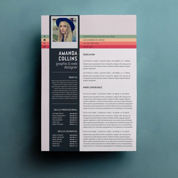resume template word modern resume template by typematters on etsy