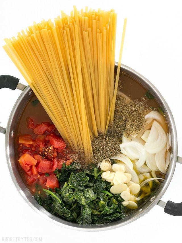 Italian Wonderpot (One Pot Pasta) - Budget Bytes #easyonepotmeals
