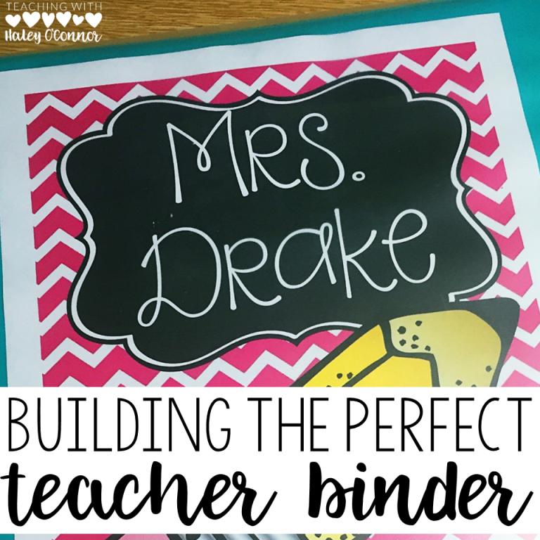 The Perfect Teacher Binder