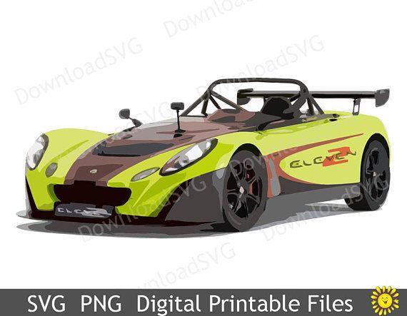 SVG PNG Green Sport Car Digital Printable Image Teenager Room Decoration  Vehicle Boy Decor Clipart Home