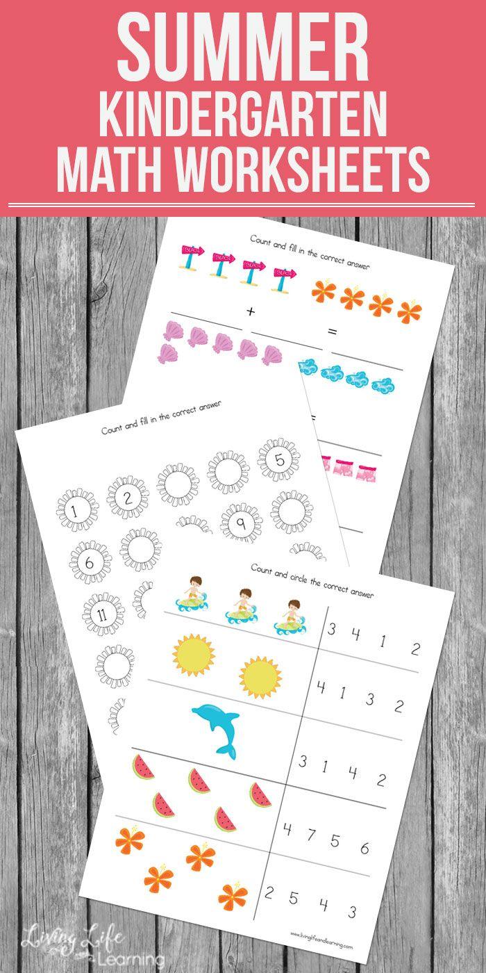 Summer Kindergarten Math Worksheets Kindergarten Math Kindergarten Math Worksheets Math Worksheets [ 1400 x 700 Pixel ]