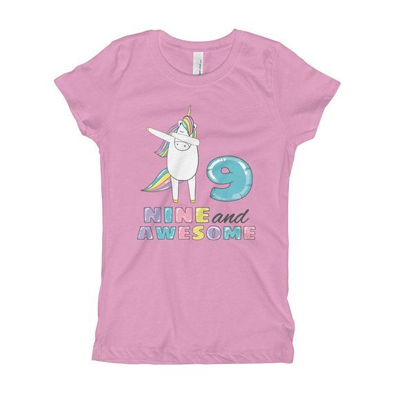 d97d8d8eb This 9 Birthday Shirt - Nine And Awesome Tshirt - 9 Years Old Birthday Gift  Outfit - 9th Birthday Gift Tee - Dab Dance Unicorn Party T-shirt is the best  ...