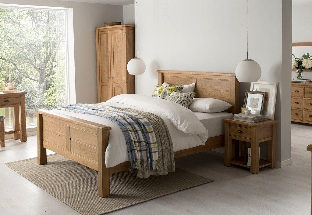 Broughton Premium Light Oak Double Bed Frame 4 Ft 6 Bed Frame Bed Frames Bed Shops Bedroom Bedroom Furniture Bedroom Furniture Shops Double Beds Furn