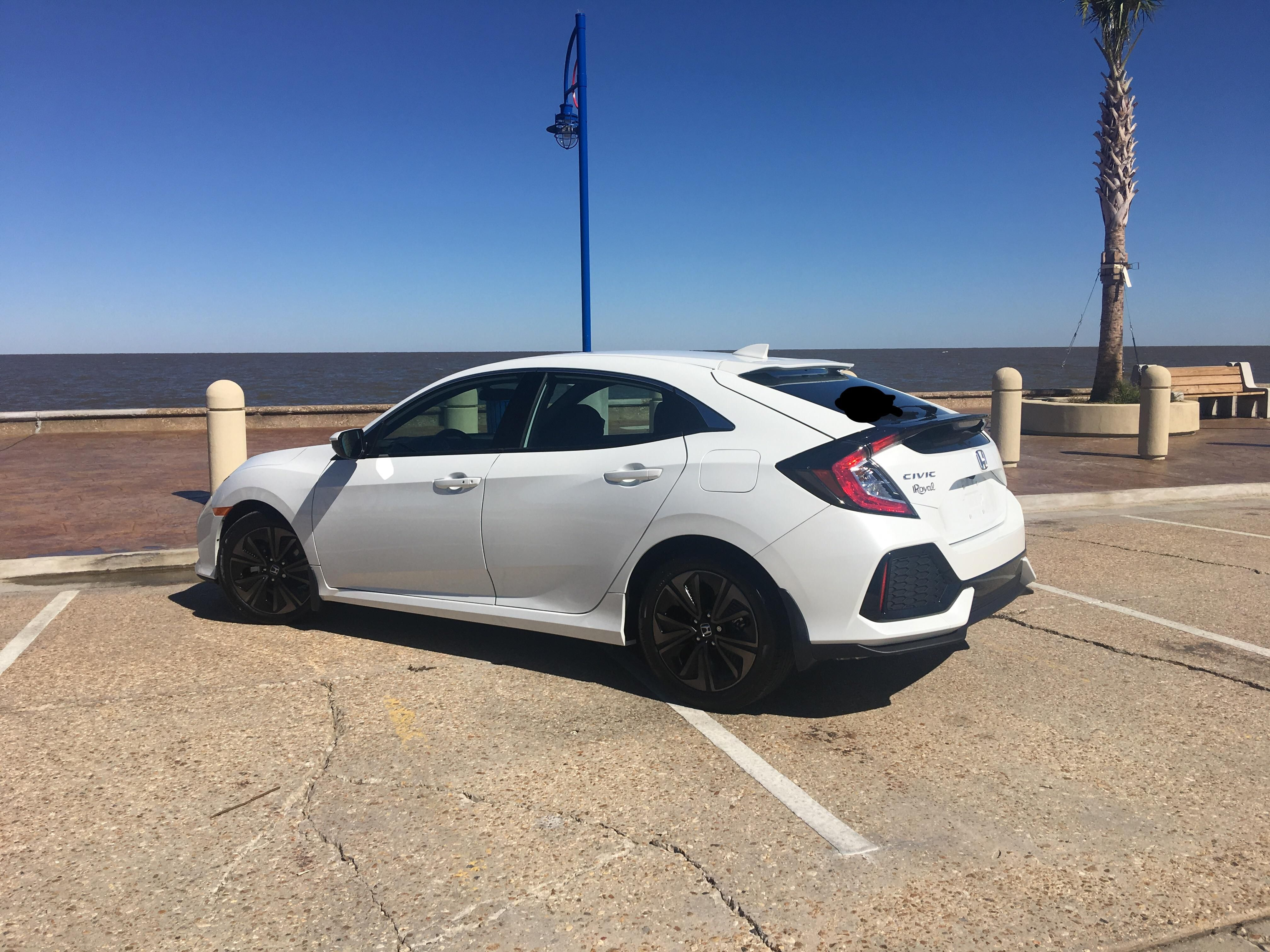 I Love My New Honda 2017 Civic Hatchback Ex In White Hondacivic Hondalife Hondalove Car