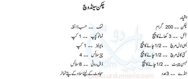 Recipe of chicken spread in urdu