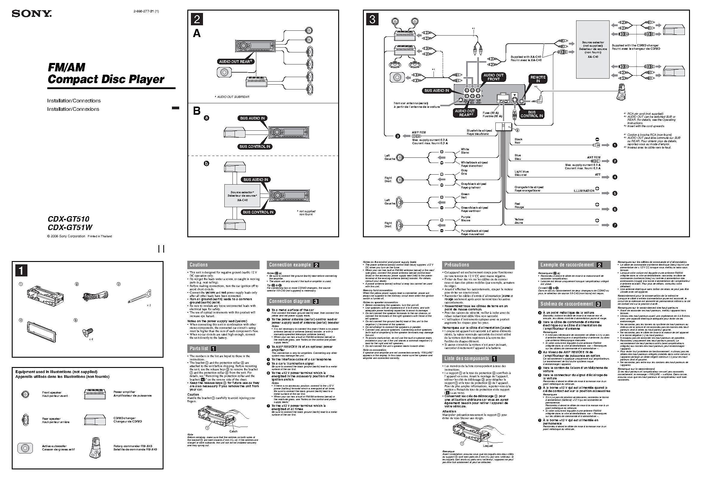 20 Sony Xplod 52wx4 Wiring Diagram Kentucky In 2021 Sony Xplod Sony Car Stereo Sony - msd digital 6al ignition wiring diagram