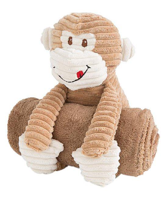 Brown Plush Monkey & Blanket