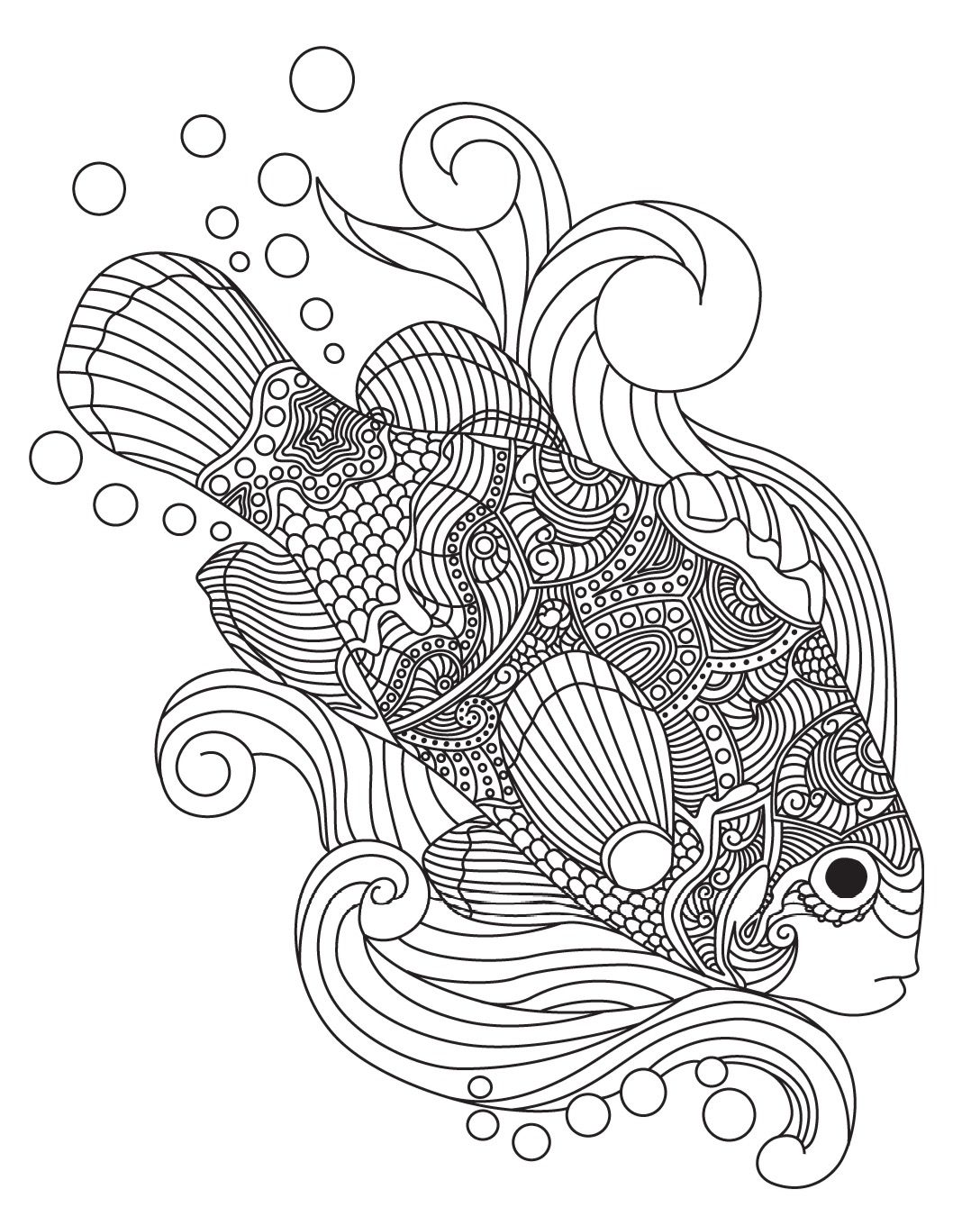 Fish Colorish coloring book for adults mandala relax by