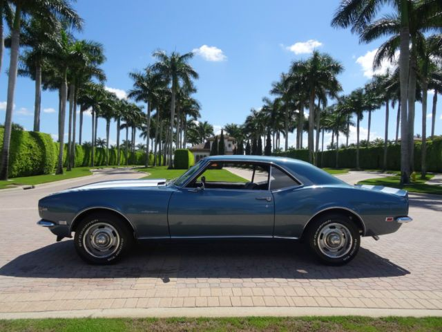 1968 Chevrolet Camaro (RARE FACTORY TEAL BLUE. WHITE Z28 STRIPED/BLACK HOUNDSTOO…