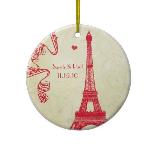 Christmas Eiffel Tower Ceramic Ornament Crafts Pinterest