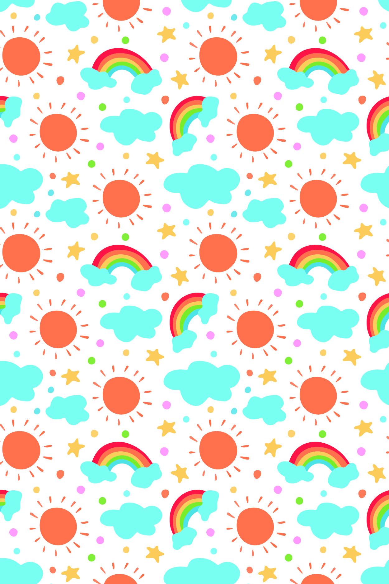 Rainbow Vibes Patter Rainbow Wallpaper Iphone Rainbow Wallpaper Cute Pastel Wallpaper