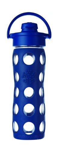 Lifefactory 16 Ounce Glass Beverage Bottle With Flip Top Cap Midnight Blue By Lifefactory Kitchen Http Www Amazon C Glass Water Bottle Bottle Glass Bottles