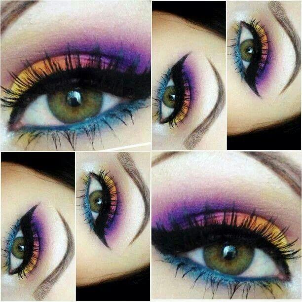 Beautiful eye makeup.