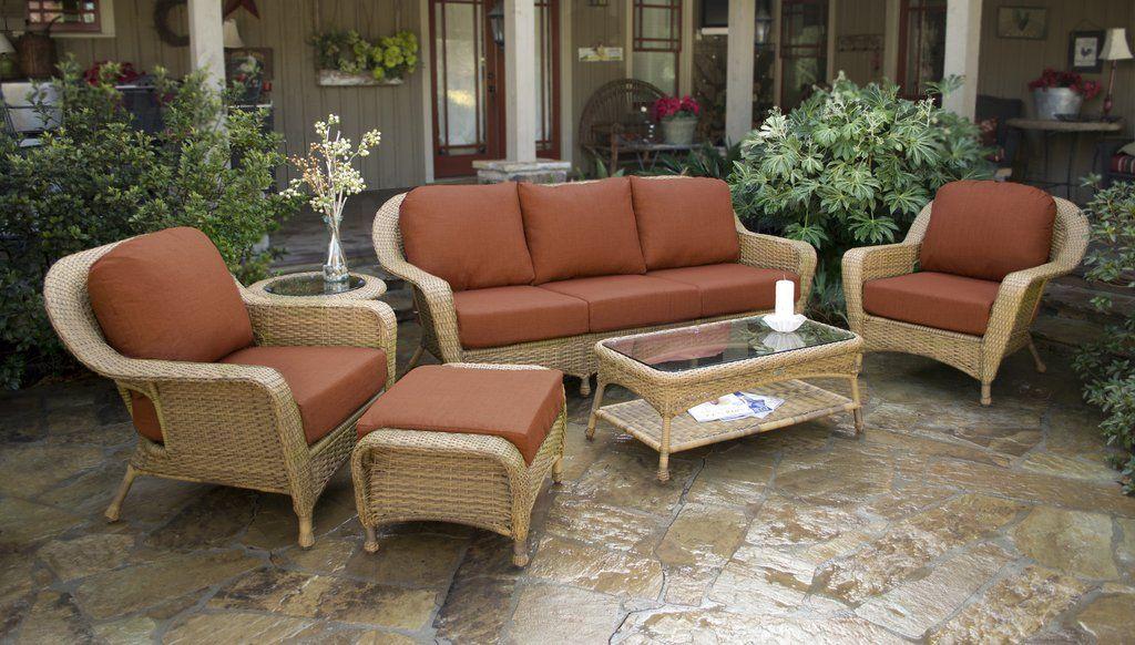 Nice Lexington 6 Piece Wicker Furniture Sofa Set