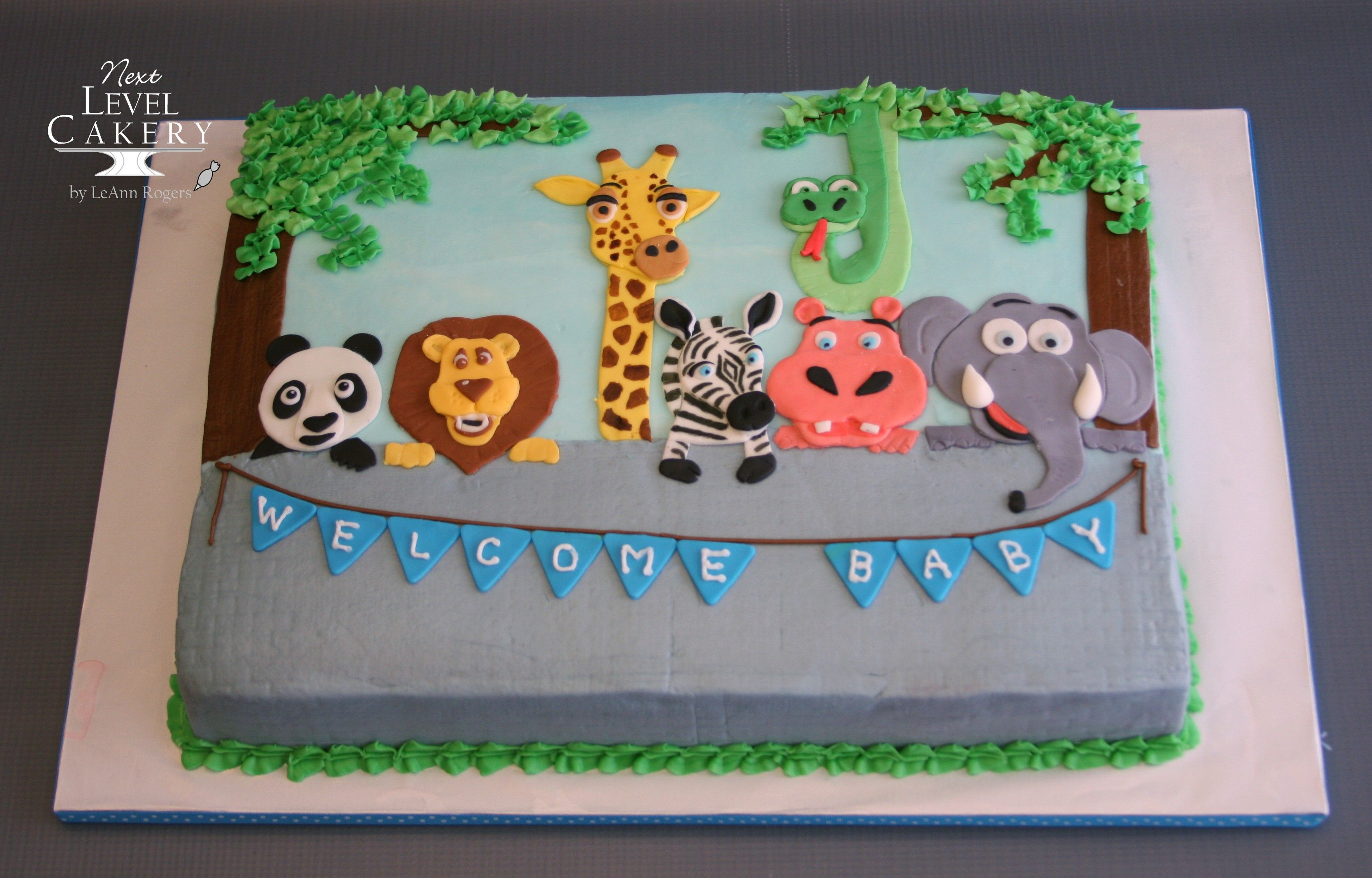 Super Jungle Animal Cake Sheet Cake Animals With Images Toddler Funny Birthday Cards Online Alyptdamsfinfo