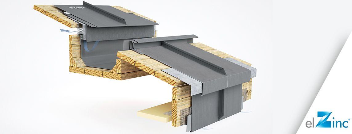 Elzinc 3d Models Of Standing Seam Zinc Roofing Details Elzinc Metal Roof Installation Standing Seam Roof Zinc Roof