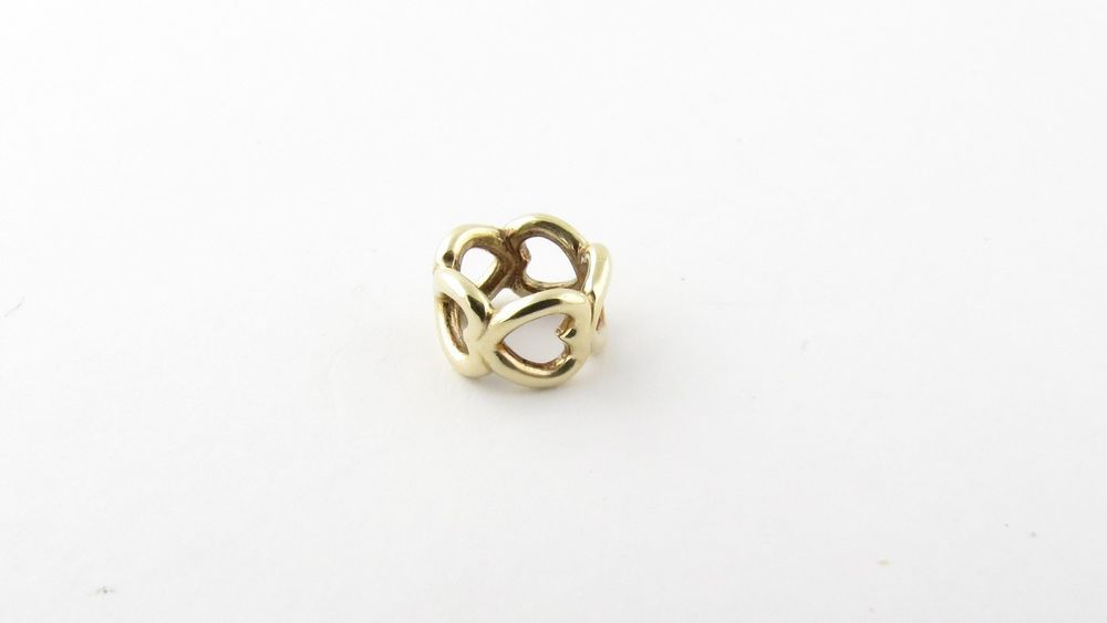 Pandora 14K Yellow Gold Heart Spacer 750454 Pandora European