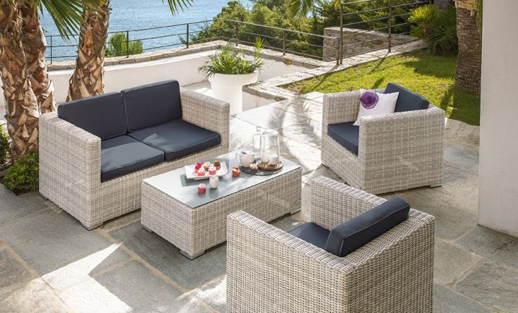 Salon De Jardin 4 Pieces Oceane Jardin Alinea Bon Shopping Com Outdoor Furniture Sets Outdoor Living Outdoor Furniture