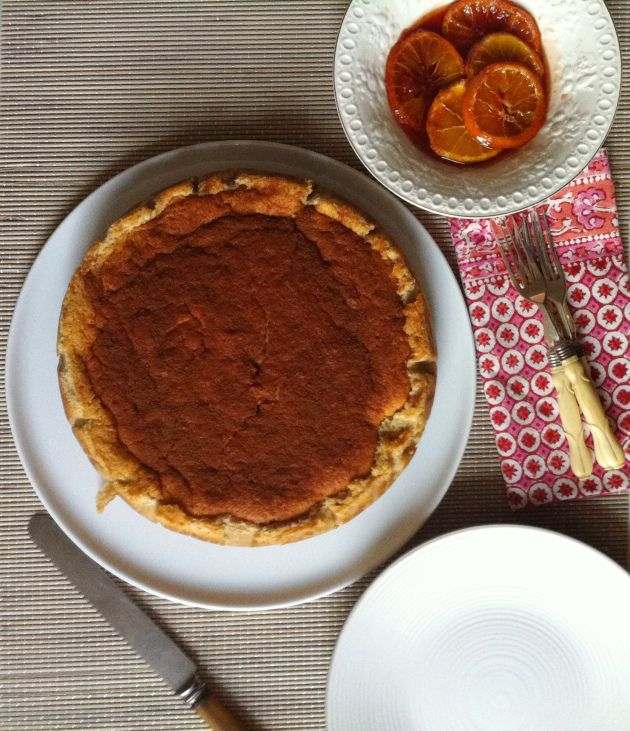 Crustless Cardamom and Blood Orange Milk Tart  Selma's Table