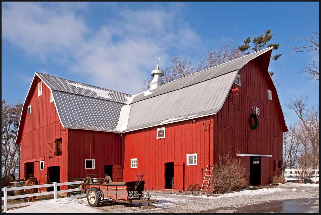 L Shaped Gambrel Barn Barn Roof Gambrel Barn American Barn