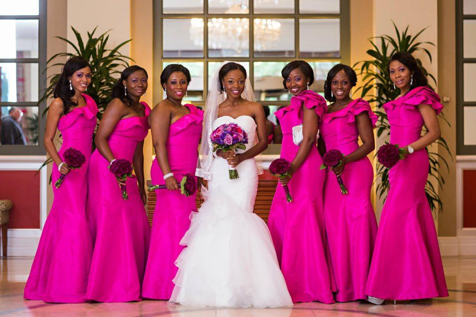 Fuchsia Pink Bright Hot Pink Bridesmaids-dresses Long Accessories  www.allofyou.etsy.com e3dda3d1a3ef