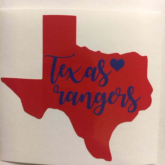 Texas rangers sticker vinyl decal baseball dallas