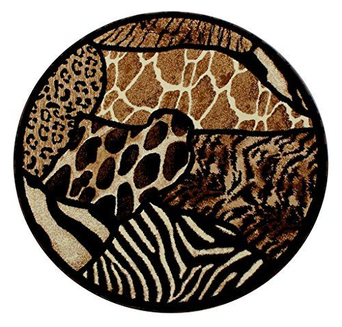 Animal Prints Round Area Rug Design Skinz 70 Black 5 Feet X 5 Feet Round -- Check out this great product.