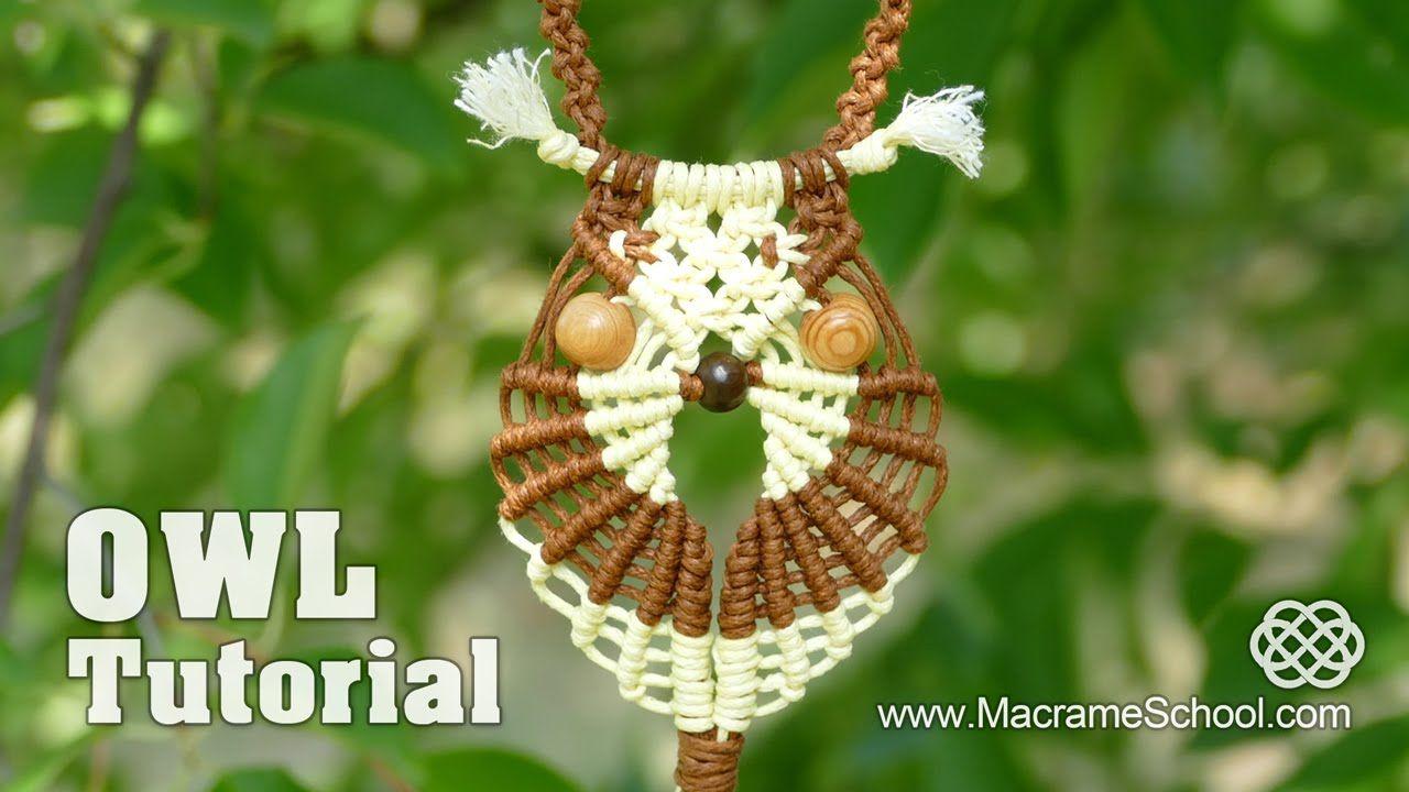 Multicolored Macramé Owl - Necklace Tutorial