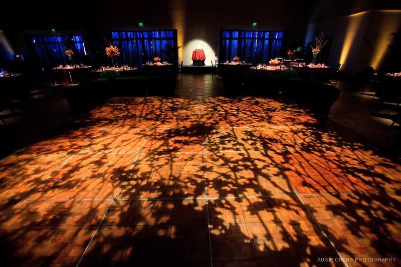 Dance Floor GOBO Wash, Table Spotlights, and Cake