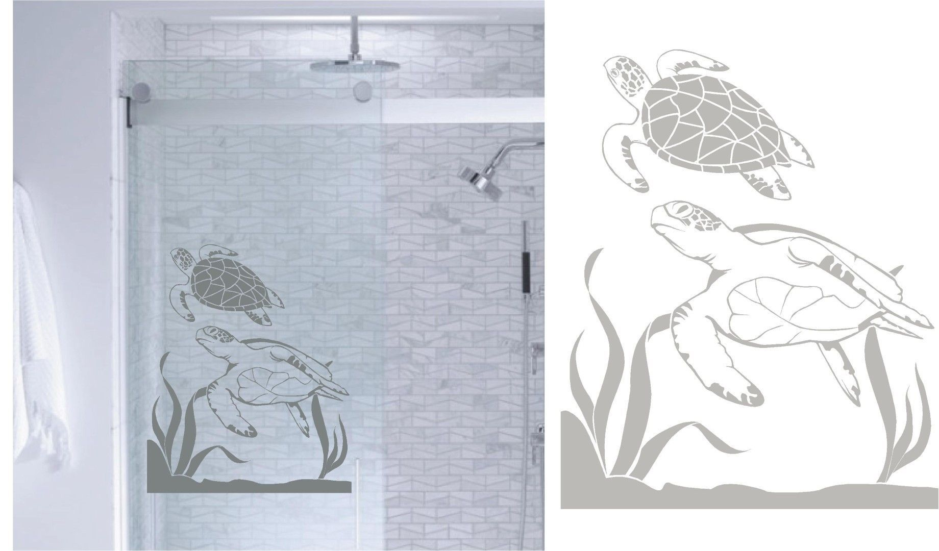 Bathroom Partitions Kent Washington sea turtles ocean diy etched glass vinyl window films shower door