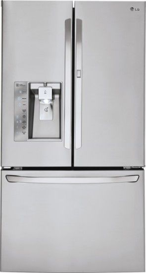 LG - 296 Cu Ft French Door Refrigerator with Thru-the-Door Ice