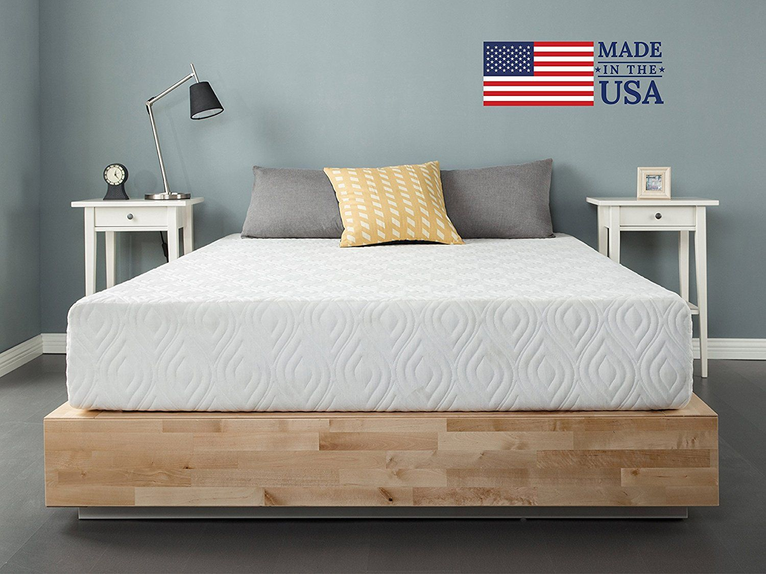 Amazon Com Zinus 10 Inch Gel Memory Foam Liberty Mattress Made In