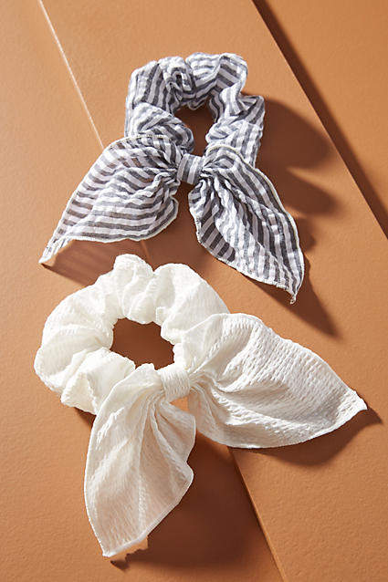 Seersucker Ponytail Holder Set #hairaccessories Shop the Seersucker Ponytail Holder Set at Anthropologie today. Read customer reviews, discover product details and more. #hairaccessories