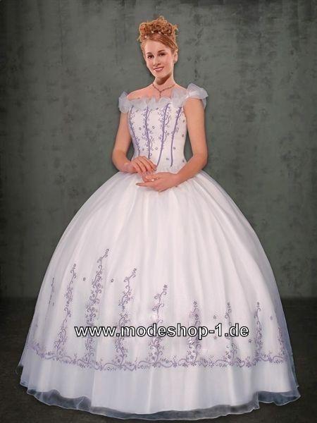 Prinzessin Sissi Abendkleid Ballkleid mit Stickereien | Kleider ...