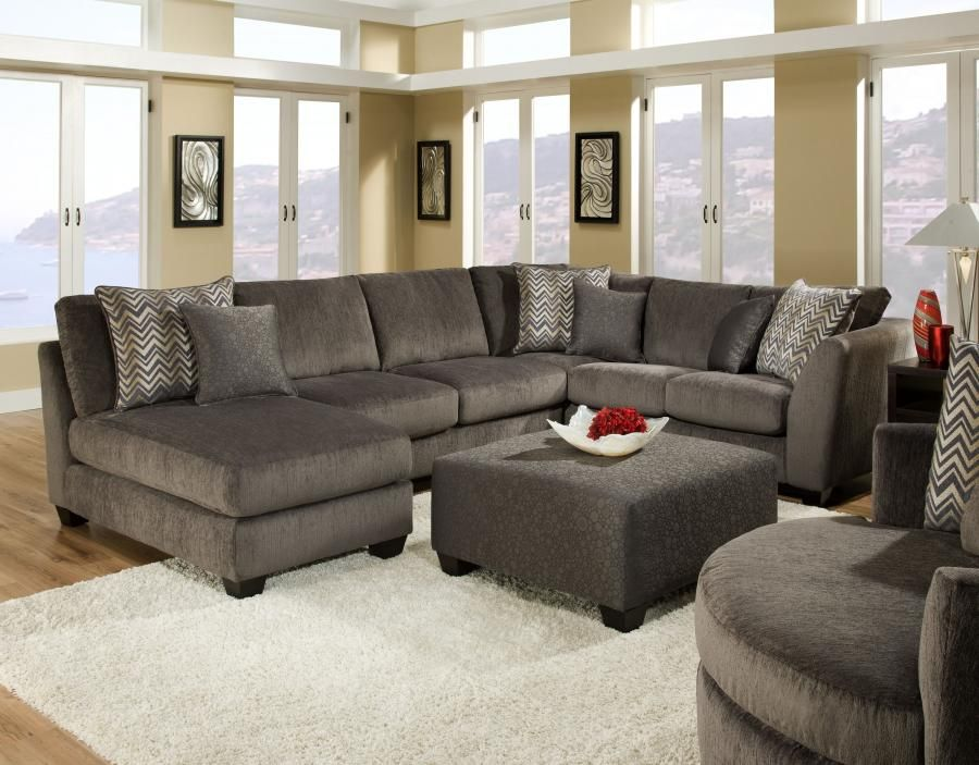 Liberty Charcoal Sectional By Albany Industries. For The Basement!