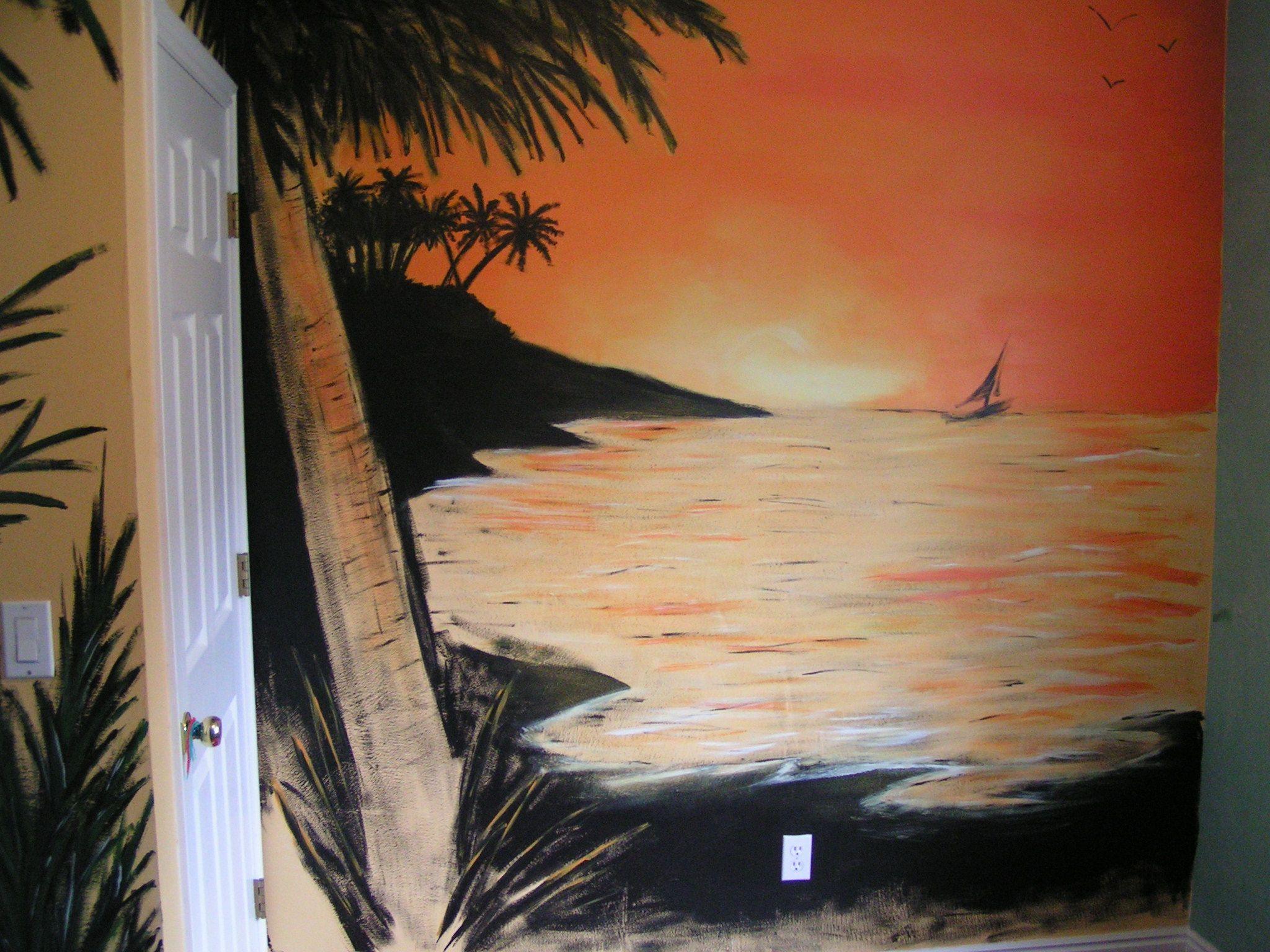 Sunset Beach Mural Follow Murals By Steve On Facebook