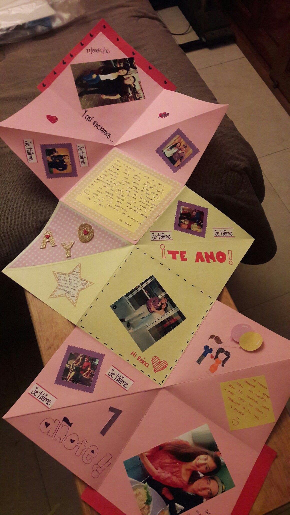 Tarjeta para mi novio regalos diy pinterest tarjetas for Regalos originales de manualidades