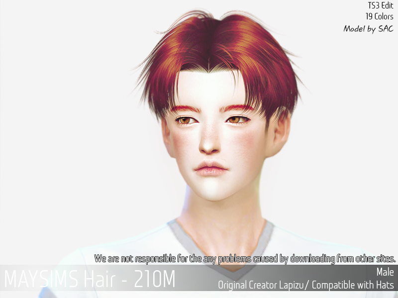 boys hairs style middle part hair for the sims 4 the sims 4 8653