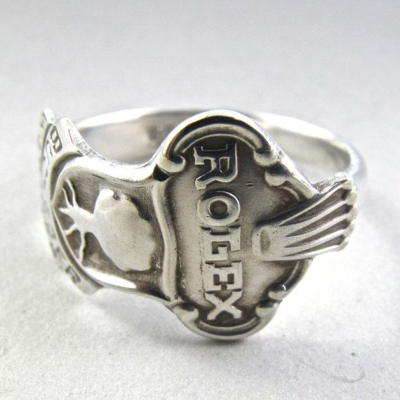 Mens Silverware Ring Sizee 12