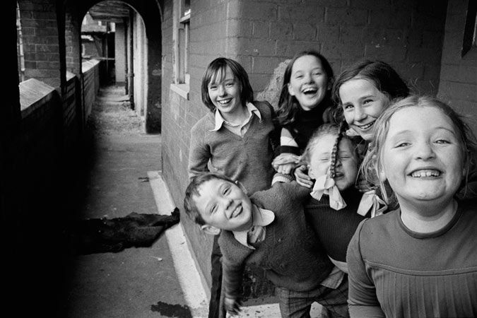 One of Paul Trevor's photographs of Liverpool children, 1975