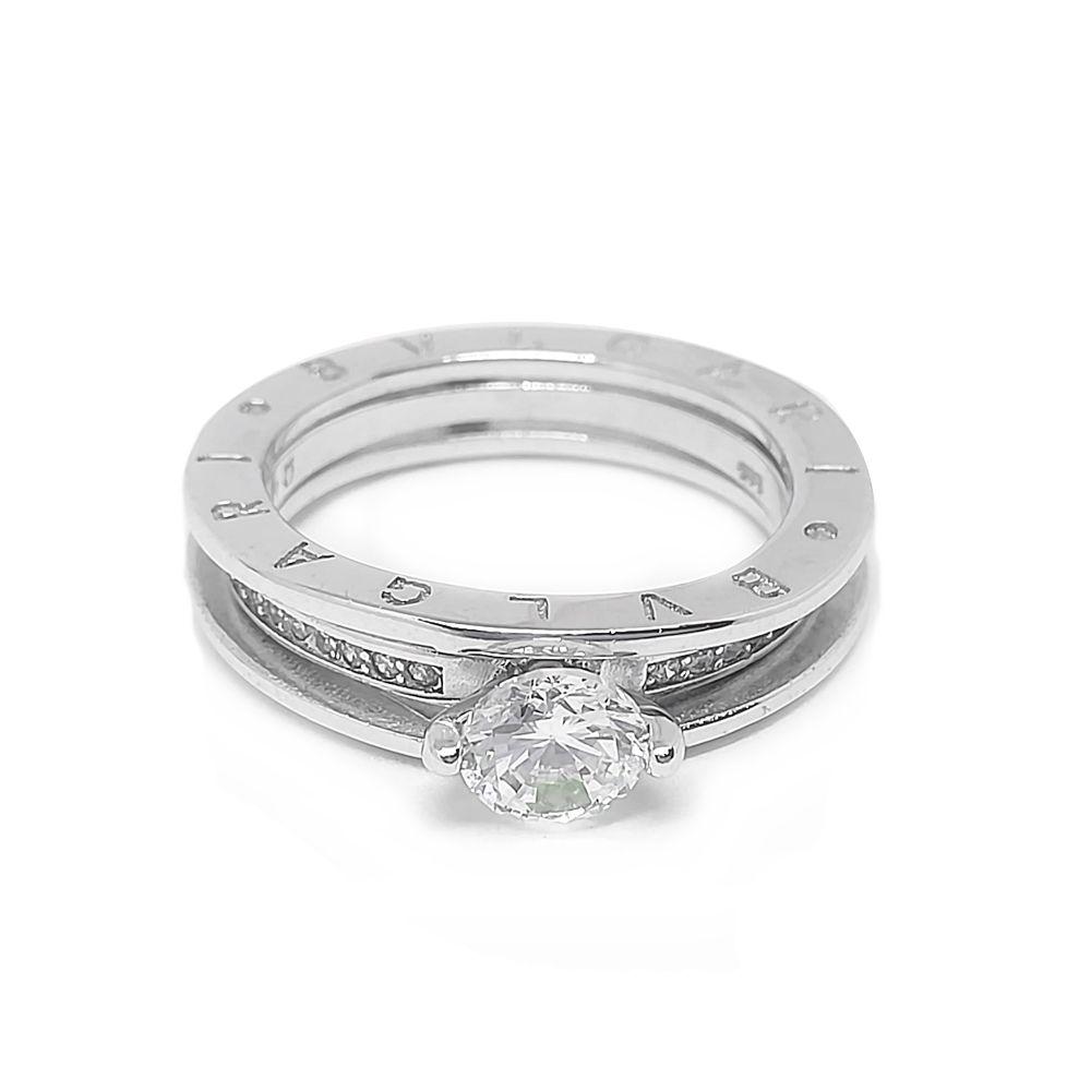 Ασημένιο μονόπετρο δαχτυλίδι απο ασήμι 925°με λευκή κεντρική πέτρα ζιργκόν  Swarovski 5a6decaab39